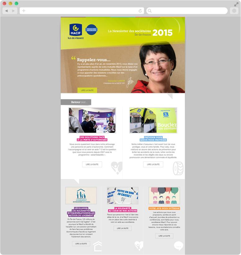 Création newsletter MACIF Île-de-France
