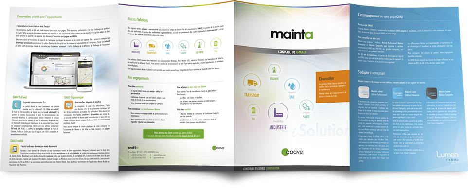 Extérieur de la plaquette commerciale Mainta 2015