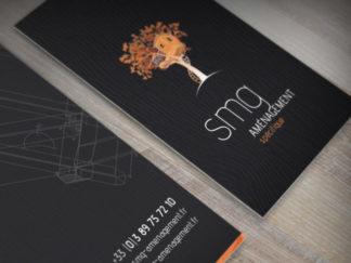 Création de logotype et cartes de visite SMG Aménagement